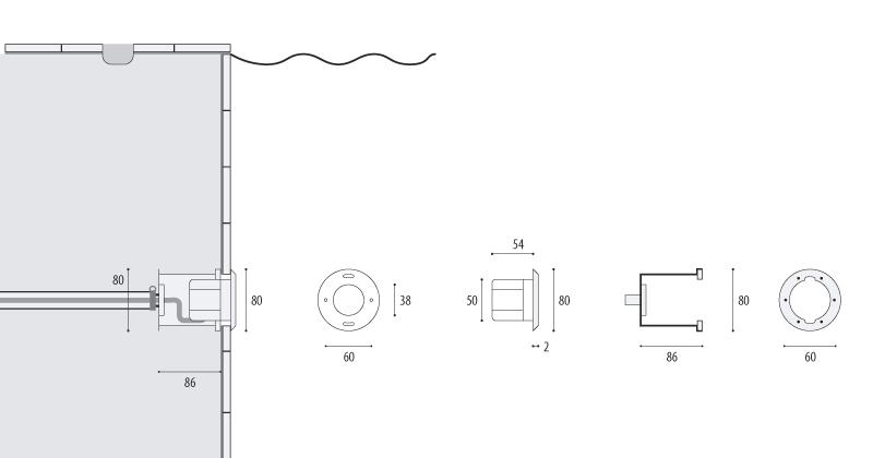 Подводный прожектор WIBRE 4.0052 схема монтажа