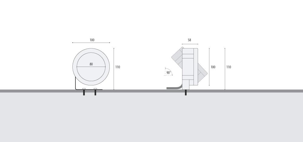 Прожектор WIBRE 4.0100 схема монтажа