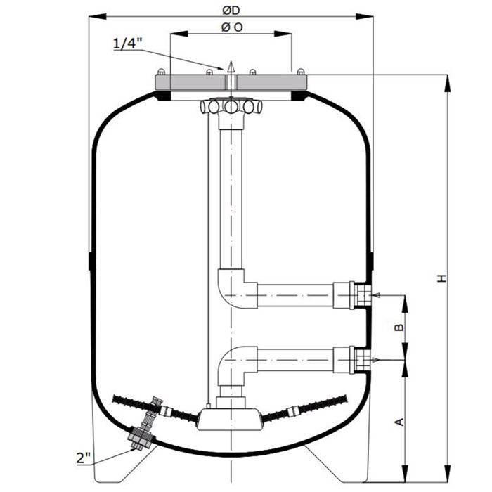 Фильтр для частного бассейна Calplas HFS