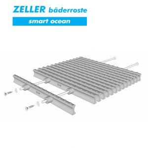 Переливные решетки ZELLER smart ocean из полипропилена, 2 штекера, Германия