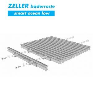 Переливные решетки ZELLER smart ocean low из полипропилена, 2 штекера, Германия